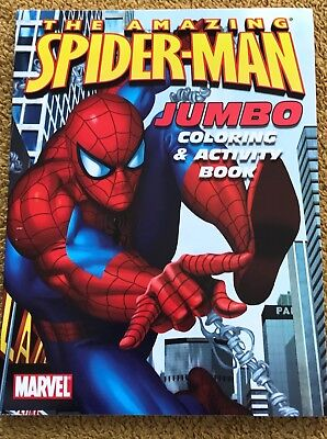 "Marvel "" The Amazing  Spiderman "" Jumbo Coloring & Activity Book Fun! *new* Usa!"