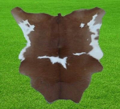 """New Calfhide Rugs Area Cow Skin Leather 6.22 sq.feet (32""""x28"""") Calf hide A-1205"""