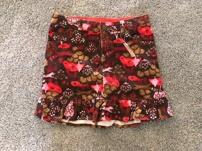 NWT Girls Lands End Corduroy Brown Skirt with build-in shorts Size 8