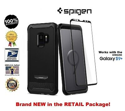 on sale 04a70 83849 SPIGEN REVENTON CASE with Film Screen Protector for Samsung Galaxy S9+ Jet  Black