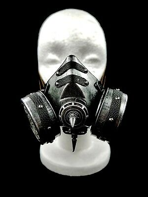 Silver Goth Steam Punk Victorian Gas Mask Prop Mad Max Terminator Style Cosplay