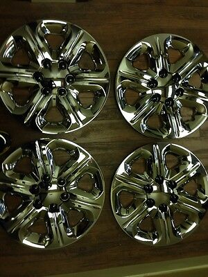 """4-Chevrolet Chevy Traverse 17"""" Hubcaps Wheelcovers Chrome 2009 10 2011 2012 2013"""