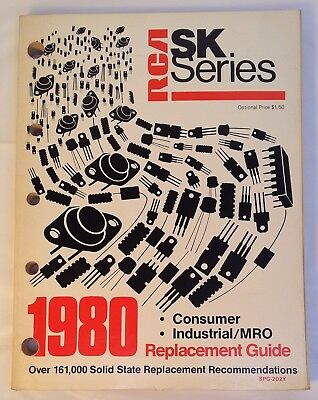 1980 RCA SK Series Replacement Guide Consumer Industrial MRO