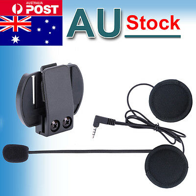 Mic/earphone+Clip for Motorcycle Motorbike Helmet Interphone 1200m V6 Intercoms