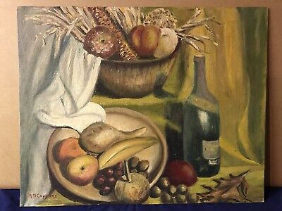 Original Oil on Canvas Still Life Painting by M.(Mary) Connors Old Lyme CT