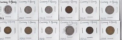 12 coins from Germany - Empire and Weimar