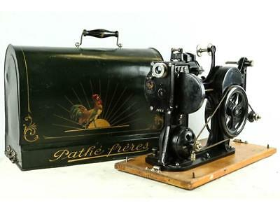 Pathe Freres 28mm Kok Projector w/ Original Case Lot 362