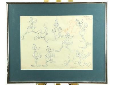 Daffy Duck Pencil Drawing Looney Tunes Lot 446