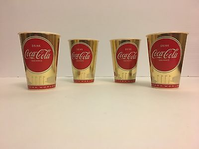 Vintage Sweetheart Cup 1964 Worlds Fair Coca Cola Cups  (4)