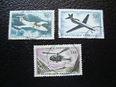 FRANCE - stamp yvert and tellier air n° 35 a 37 obl (A12)