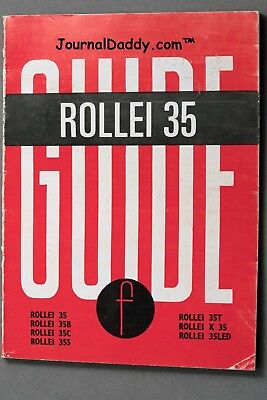 Rollei 35 Guide by W.D. Emanuel Focal Press, complete instructions 68pp