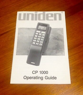 Uniden CP 1000 Phone Operating Guide Collectors Item
