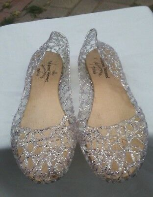Vivienne Westwood Anglomania NWOB sparkly ballet slipper flats 39 US 7.5-8 Italy