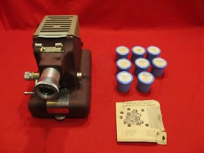 Standard Projector Model 333 Film Strip Projector with 8 Film Rolls Tested