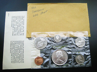 1966 Canada ((Proof Like)) Silver 6 Coins Mint Set Choice Unc Gem Bu Coin