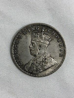 British India 1919 King George V Emperor Silver Colored Coin One Rupee