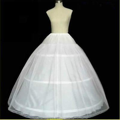 NEW White plus size 3 hoop 1 Layer bridal wedding petticoat Crinoline Underskirt