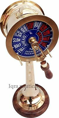 """Collectible 14"""" Brass Hand-Made Telegraph - Vintage Ship Engine Room Telegraph"""