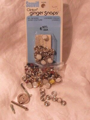 Vintage Scovill Clinton Ginger Snap Fasteners Grommets ATTACHING TOOL Pearl LOT