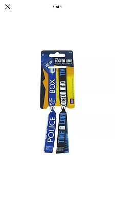 2 Dr Doctor Who Tardis Time Lord Festival Double Wristbands Bracelets Official