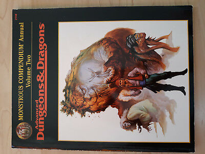 AD&D 2nd. Edition TSR Monstrous Compendium Annual Two
