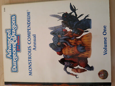 AD&D 2nd. Edition TSR Monstrous Compendium Annual One