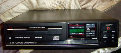 Vintage Philips CD 160/05R  16Bit FOURFOLD OVERSAMPLING  Compact Disc Player