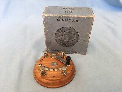 VINTAGE MINIATURE RHEOSTAT AND SWITCH IN BOX 1930's K & D No. 24 ELECTRICAL