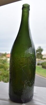 Vintage Collectable Green Pickaxe Crown Seal Beer Bottle Pick Axe