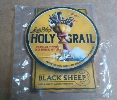NEW Beer pump badge clip BLACK SHEEP brewery HOLY GRAIL Monty Python's ale front