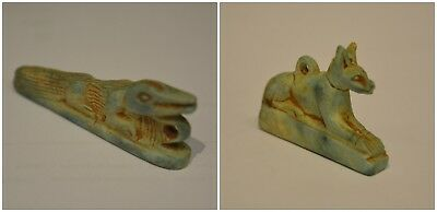 Lovely Collection Of Ancient Egyptian Anubis & Sobek God / Crocodile Nile Statue