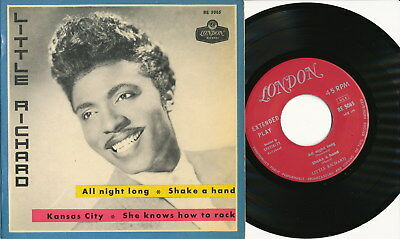"LITTLE RICHARD EP Sweden LONDON RE 5065 ""All Night Long + 3 Hits"""