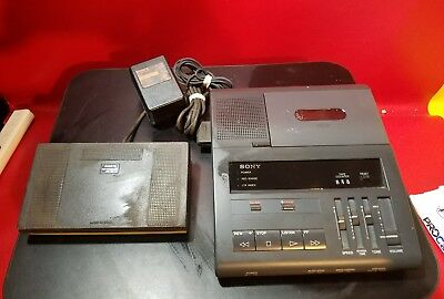 Sony B1-85 Dictator/Transcriber With Foot Pedal & Power Supply RH161
