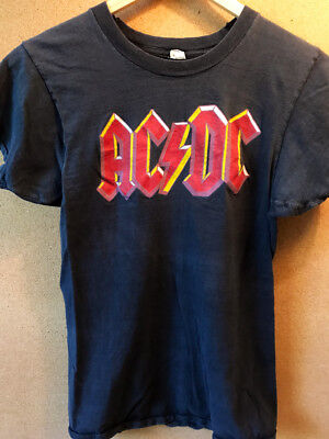 Ac/dc Original Vintage 1979 Highway To Hell Tour T-Shirt Very Rare!
