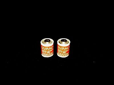 """2 Vintage Duracell """"red Label"""" Px23 5.6V Mercury Batteries - For Display"""