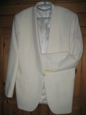 Pierre Cardin White Wool Tuxedo, Cruise, Dinner Suit Jacket 40R VG condition.