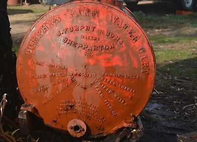 Early Furphy Water Tank..Two Ends..Collar.. Rustic Beauty!