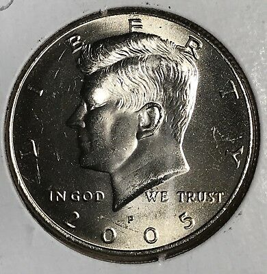 2005 Kennedy Half Dollar Error Double Die Reverse