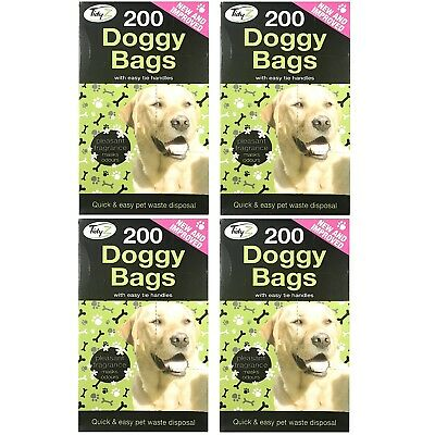 800 TidyZ  Scented Fragranced Doggy Poo Pet Waste Bags With Tie Handles Dog Cat
