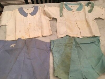 Lot of Vintage Children's Clothing 1940's As Is Short Sets Boys Stantogs