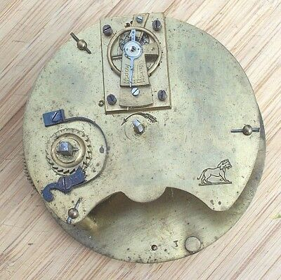 Duverdry & Bloquel 8 Day Clock Movement running on a Platform Escapement