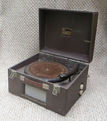 "Early ""trixette"" Portable Electric Gramophone &valve Amplifier - Spares / Repair"