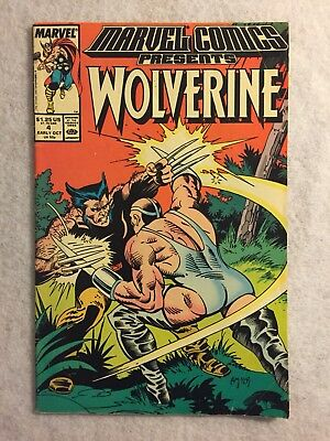 Marvel Comics Presents #4 (Oct 1988, Marvel) Wolverine