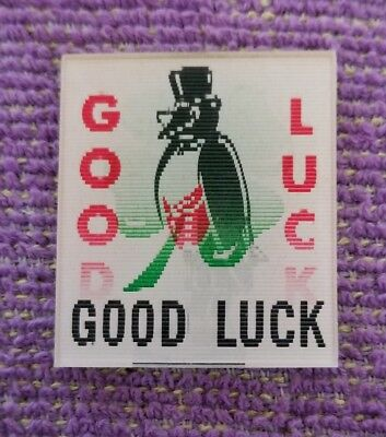 Vintage Old Crow whiskey 4 leaf clover Good Luck Vari Vue Flicker