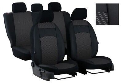 EcoLeather+Fabric Tailored Full Set Seat Covers FORD FIESTA 2008 - 2017 5dr