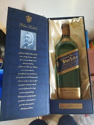 Johnnie Walker BLUE LABEL empty bottle and box