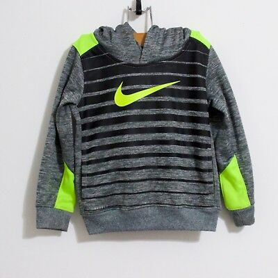 Nike Boys 3T Pullover Sweater Hooded Gray and fluorescent Yellow