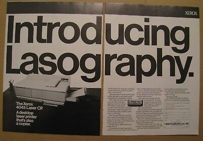 1986 Xerox 4045 Laser CP - Introducing Lasography 2-pages AD