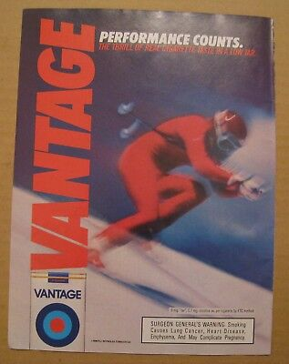 1986 Vantage Cigarette - Performance Counts Color AD