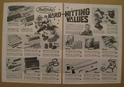 1986 True Value Hardware Stores / Valvoline Motor Oil Color AD